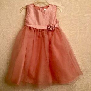 🏖 Gymboree Pink Dress Girls SZ 2T w/ flaw